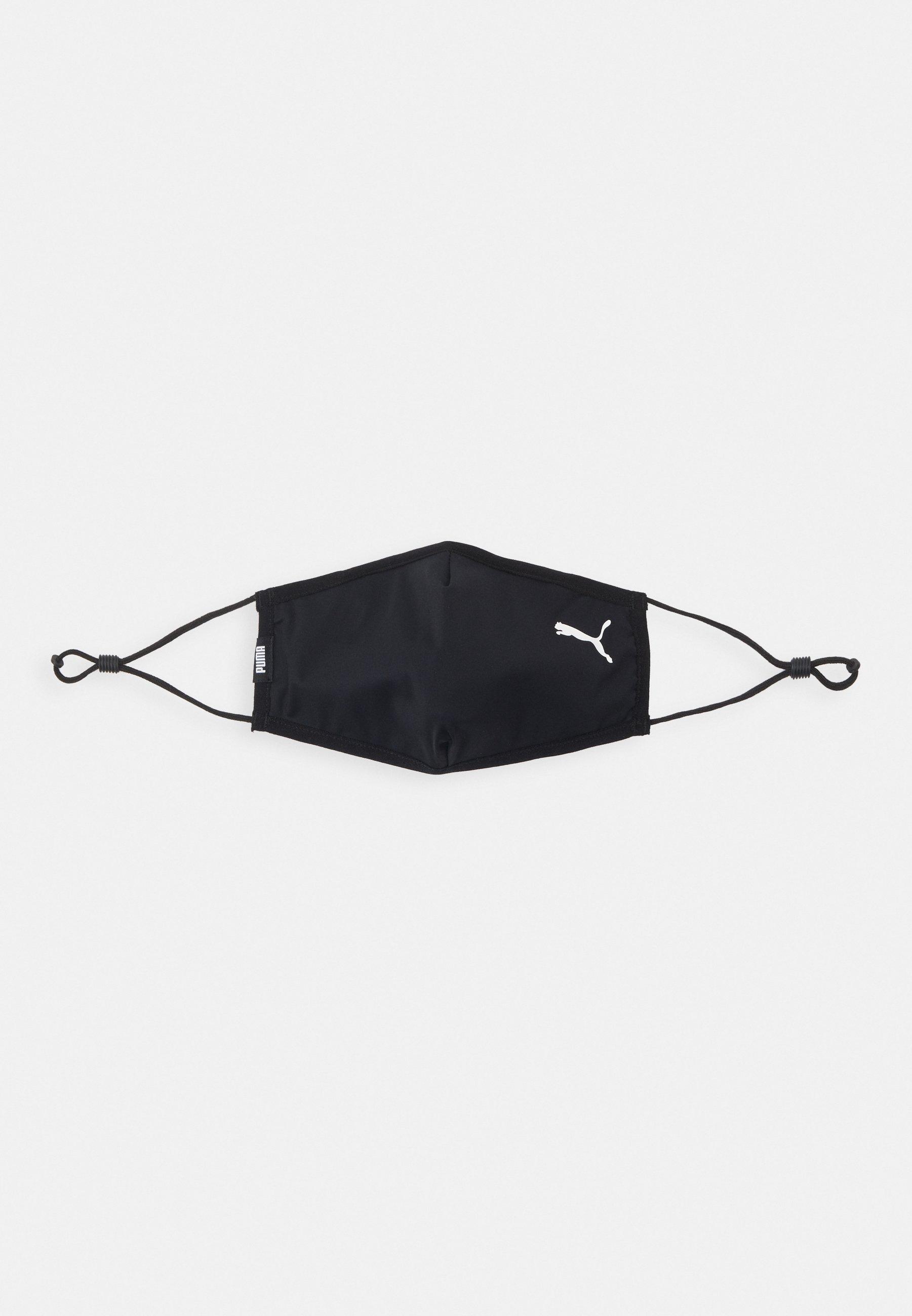 Puma FACE MASK 2 PACK UNISEX - Masque en tissu - black/noir ...