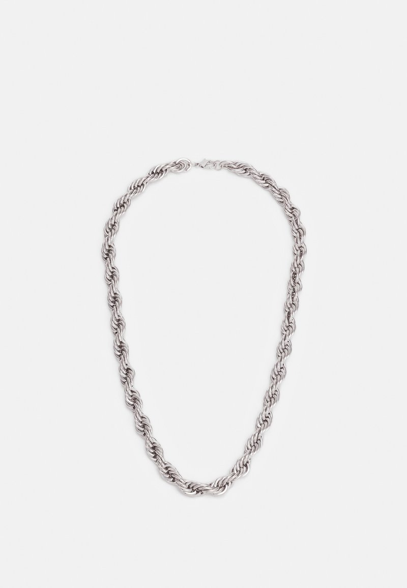 Topman - TWIST CHAIN NECKLACE - Necklace - silver-coloured