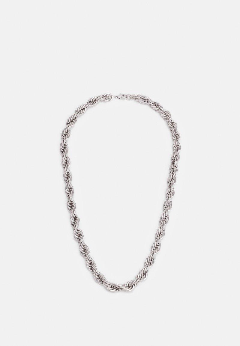 Topman - TWIST CHAIN NECKLACE - Naszyjnik - silver-coloured