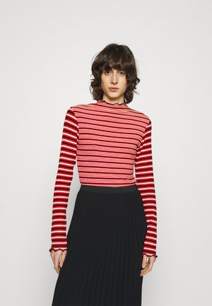 STRIPE MIX TRUTTE - Top s dlouhým rukávem - red multi