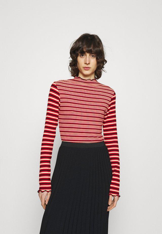 STRIPE MIX TRUTTE - Long sleeved top - red multi