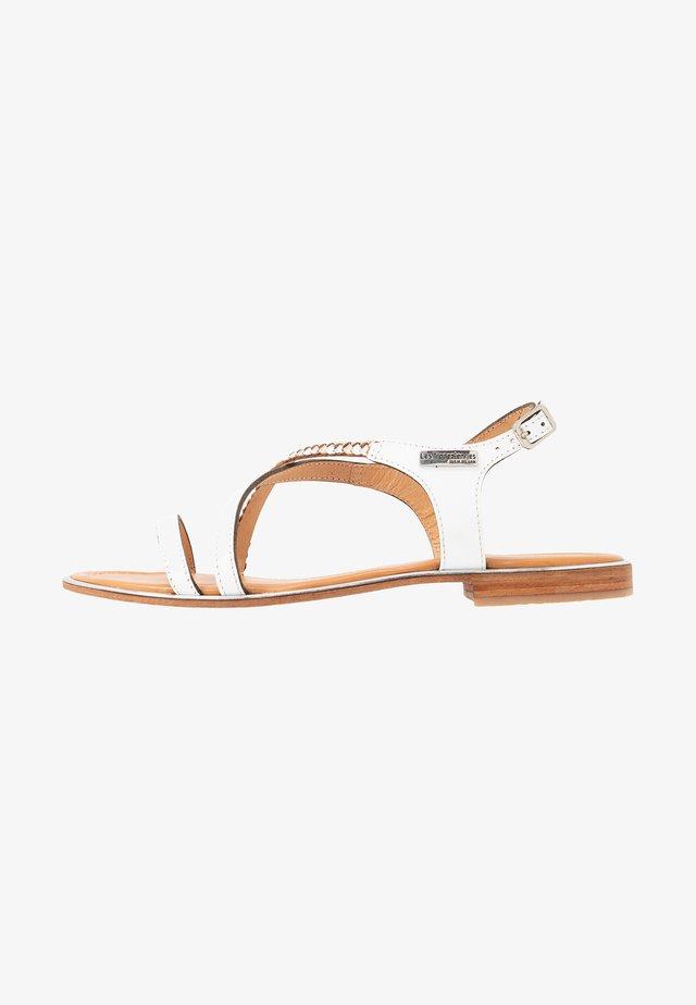 HORSOU - T-bar sandals - blanc/argent