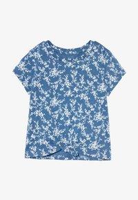 GAP - GIRL TIE HEM TEE  - T-shirt print - blue - 2