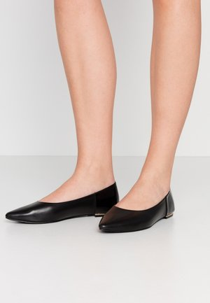 LEATHER BALLERINA  - Ballet pumps - black