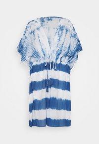 ONLY - ONLLONNY BEACH TUNIC - Beach accessory - cloud dancer/blue - 4