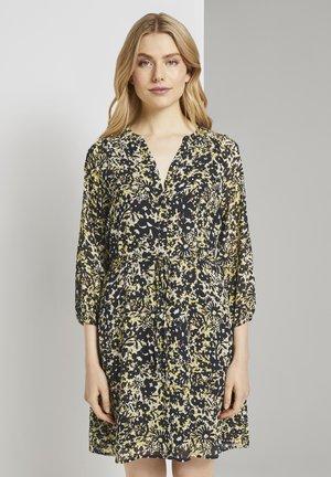 Shirt dress - yellow flower design