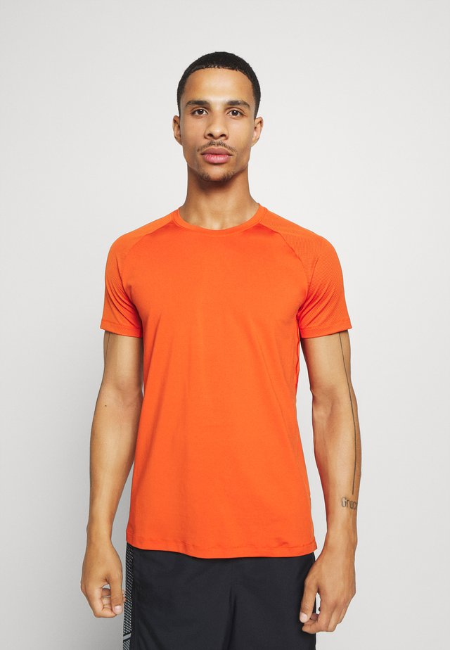 STRUCTURED TEE - Basic T-shirt - intense orange