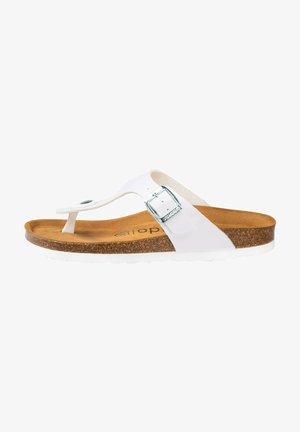 PALADO KOS - T-bar sandals - white metallic