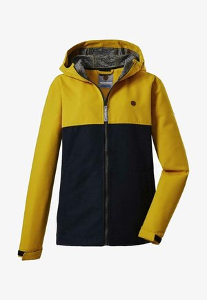 Soft shell jacket - yellow  black
