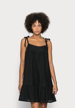 EYELET MINI SWING - Sukienka letnia - true black