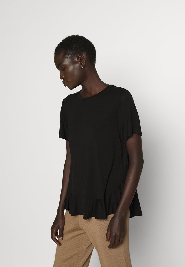 KATKA JANITA TEE - Basic T-shirt - black