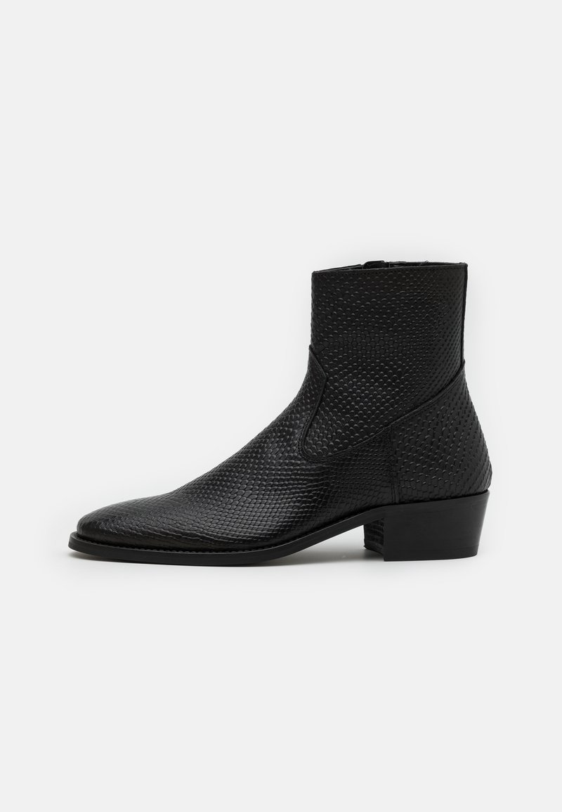 Walk London - HOXTON HEX CUBAN EMBOSSED - Classic ankle boots - black