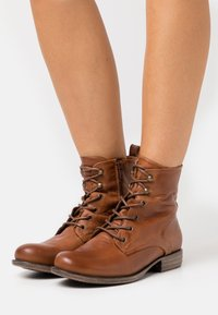 Anna Field - LEATHER - Lace-up ankle boots - cognac - 0