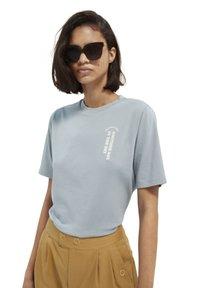 Scotch & Soda - T-shirt print - french blue - 0