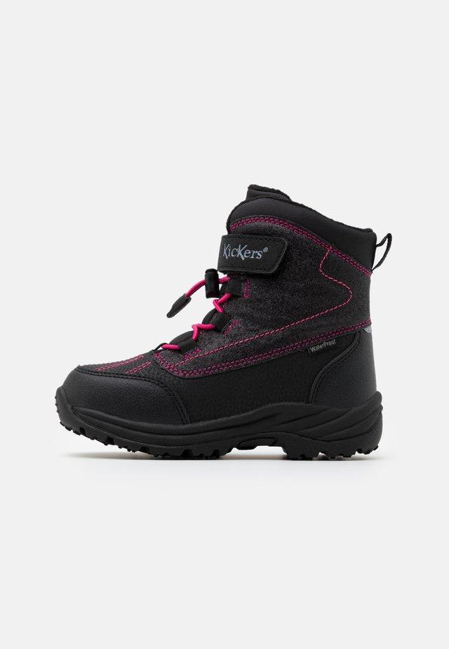 JUMP WPF - Zimní obuv - noir/rose brillant