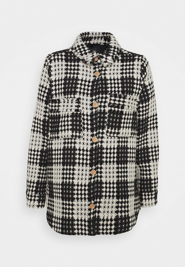 Krátký kabát - black/white