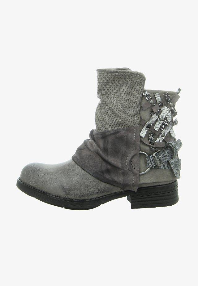 Cowboy/biker ankle boot - antik grey