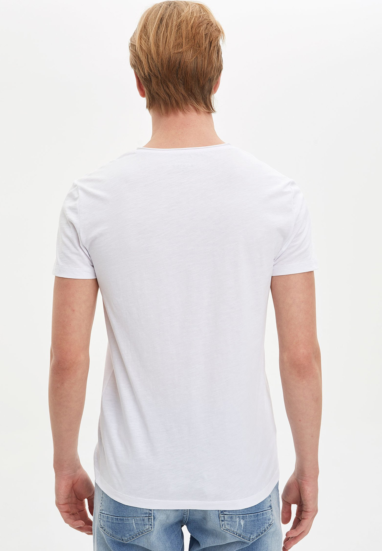 DeFacto Basic T-shirt - white dcJQd