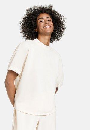 MIT WEITEM KURZARM - Basic T-shirt - offwhite