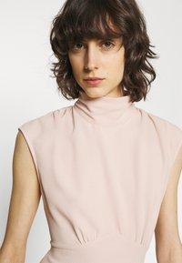 Closet - HIGH NECK MIDI A-LINEDRESS - Day dress - blush - 4