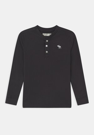 HENLEY - Long sleeved top - dark grey
