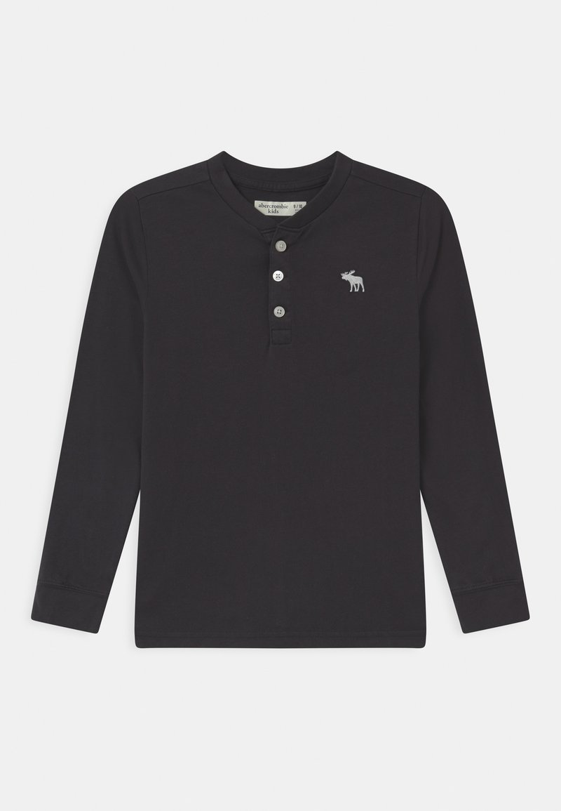 Abercrombie & Fitch - HENLEY - Long sleeved top - dark grey