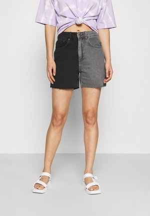 HALF AND HALF - Denim shorts - charcoal