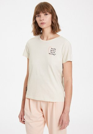 Print T-shirt - raw cotton