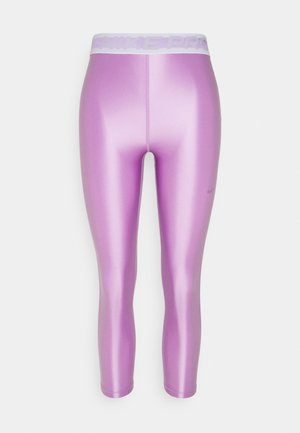 Leggings - violet shock/white