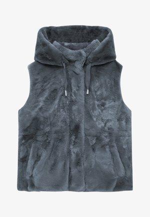 MIT KAPUZE - Waistcoat - grey