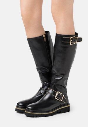 ZIP STREET - Cowboy/Biker boots - black