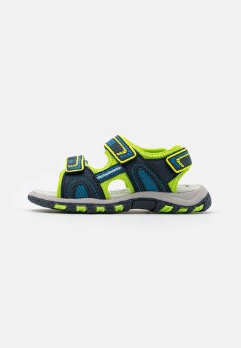 LUCA - Walking sandals - marine/lemon/blau