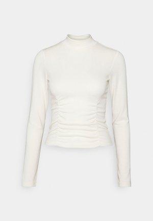 SASHA - Tops ar garām piedurknēm - warm white