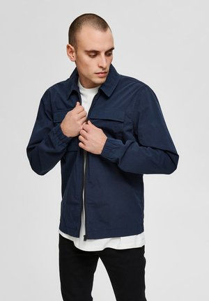 SLHNILES - Summer jacket - mottled dark blue