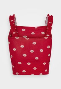 Hollister Co. - RUFFLE STRAP CAMI - Top - red - 6