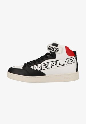 High-top trainers - white black