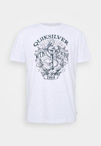 Quiksilver - QUIET DARKNESS  - Print T-shirt - white - 3