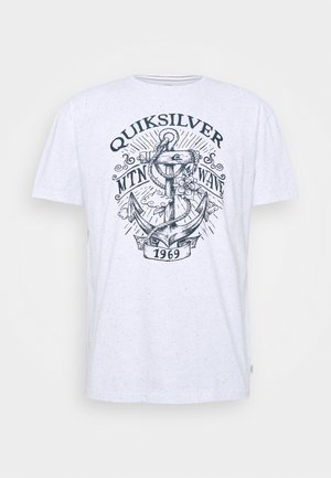 QUIET DARKNESS  - Print T-shirt - white