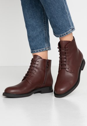 IMAN - Lace-up ankle boots - burgundy