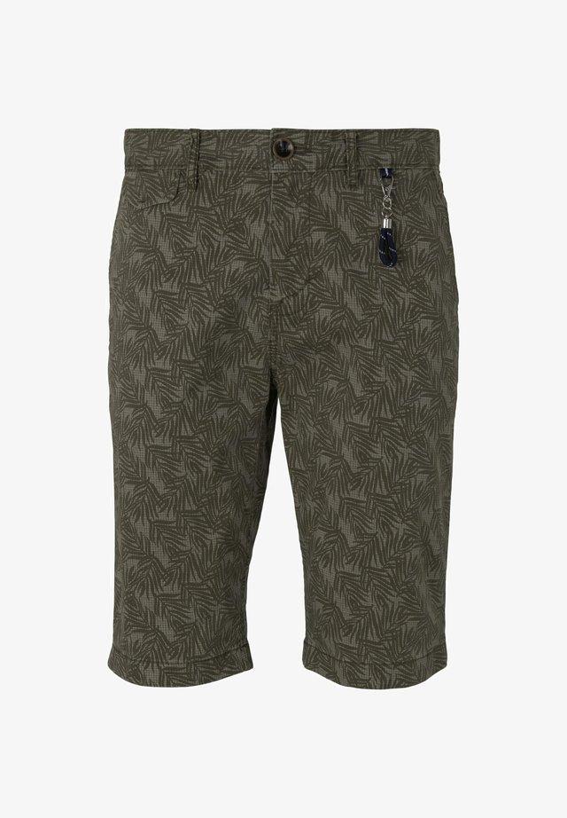 Shorts - olive leaf design