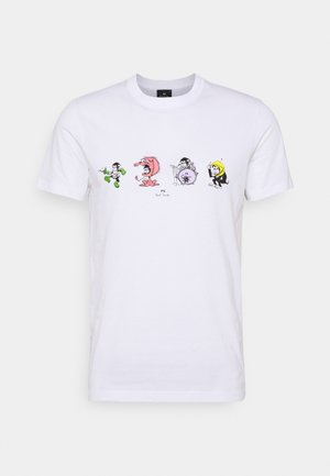 SLIM FIT 4 MONKIES - Print T-shirt - white
