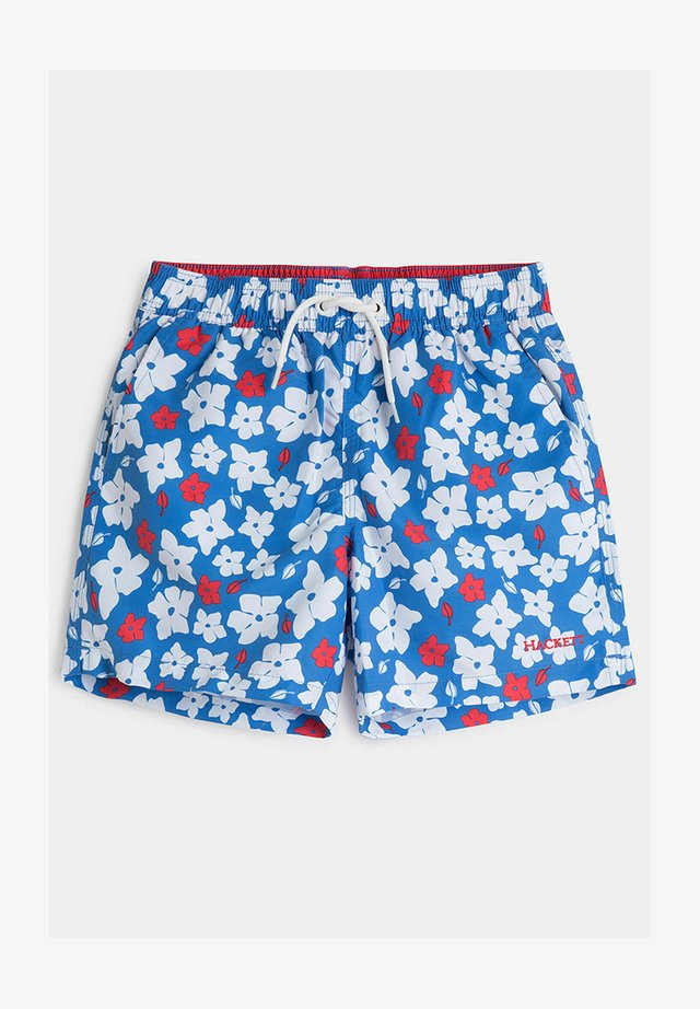 FLORAL VOLLEY - Shorts - blue/white