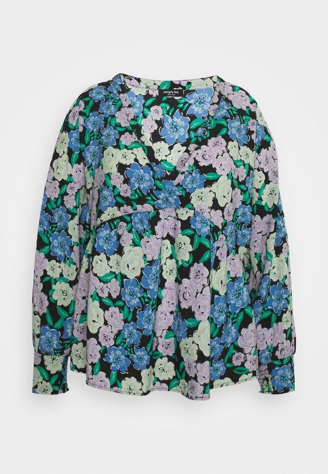 BATWING SLEEVE - Top sdlouhým rukávem - lilac floral
