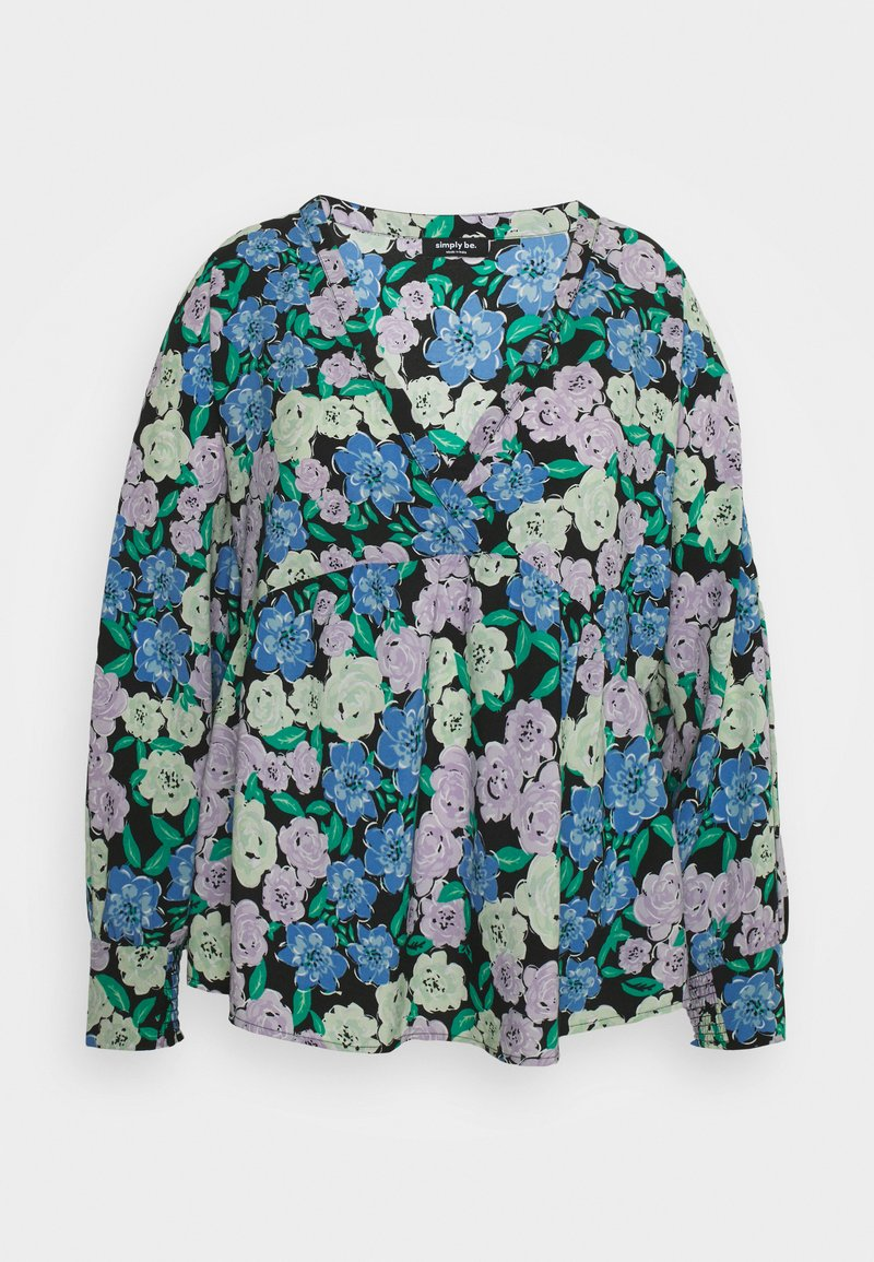 Simply Be - BATWING SLEEVE - Long sleeved top - lilac floral