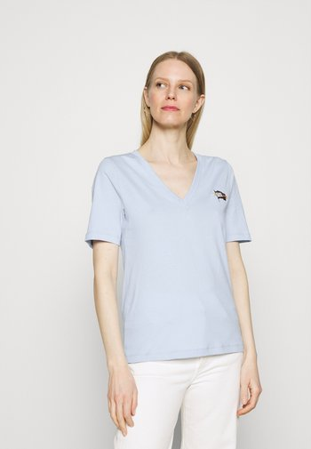 REGULAR FLAG TEE - T-shirt print - breezy blue