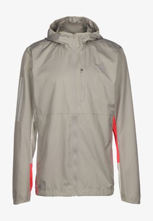 OWN THE RUN REFLECTIVE JACKET - Giacca sportiva - metal grey / orbit grey / signal pink