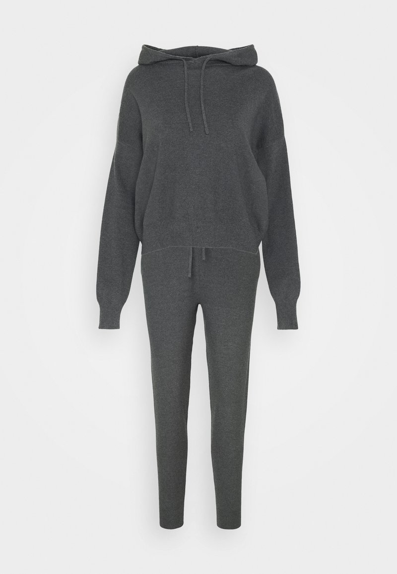 Even&Odd - Jogger and Hoodie Set - Jumper - mottled dark grey