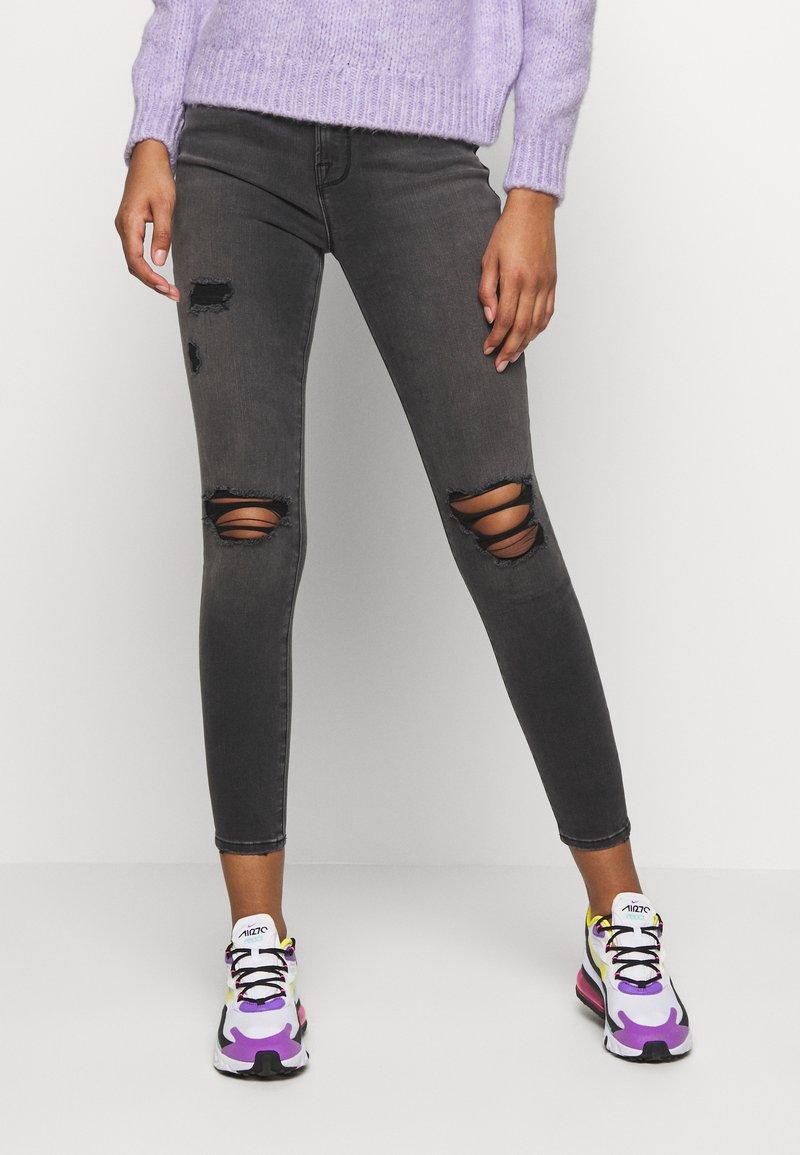 Good American - LEGS CROP - Jeans Skinny Fit - black