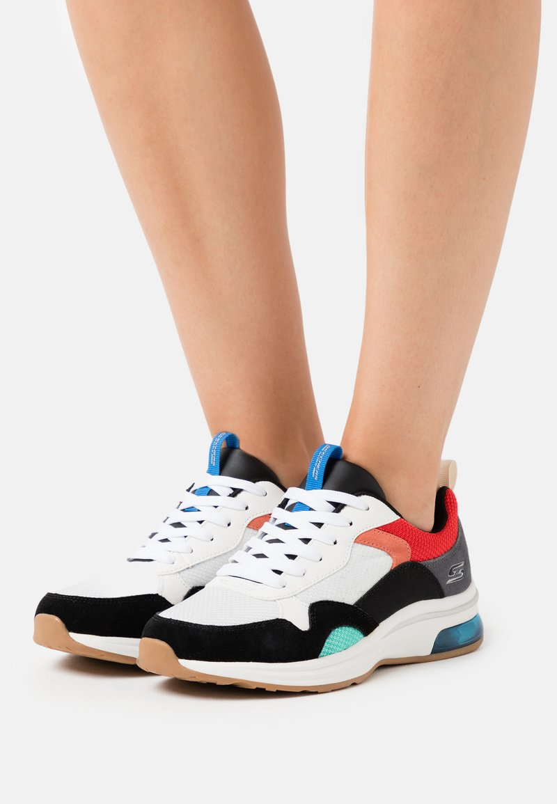 Skechers Sport - BOBS PULSE AIR - Trainers - white/black/red