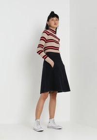 Mads Nørgaard - STELLY - A-line skirt - blue/black - 1